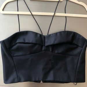 NICHOLAS silk bustier crop top